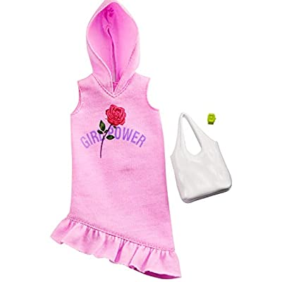 Barbie Clothes: Pink Hoodie Dress, Plus 2 Accessories Dolls, Gift for 3 to 7 Year Olds, GHW77: Toys & Games