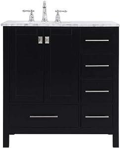 Elegant Decor 32 Inch Single Bathroom Vanity in Black