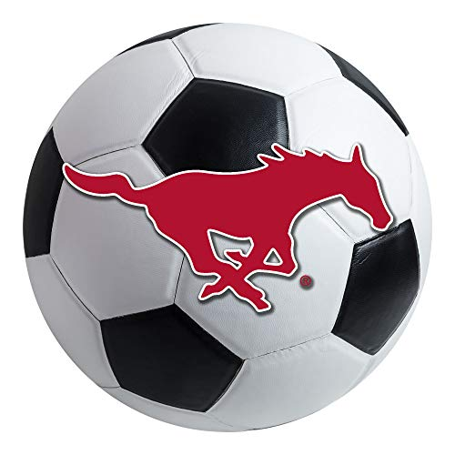 FANMATS NCAA Southern Methodist University Mustangs Nylon Face Soccer Ball Rug