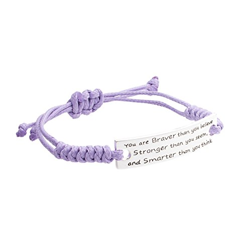 Inspirational Jewelry Bracelet - You are Braver & Stronger for sale  Delivered anywhere in Canada