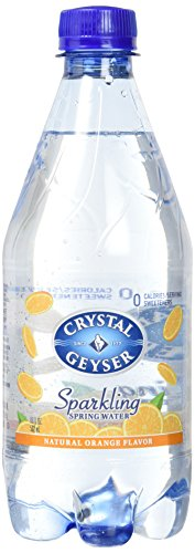 Crystal Geyser Sparkling Spring Water, Orange, 18 Ounce (...