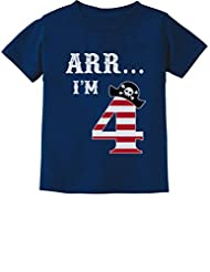 Arr I'm 4 Pirate Birthday Party Four Years Old Toddler/Infant Kids T-Shirt