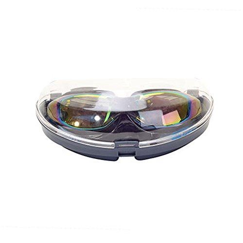 Lunettes de natation grande boîte mode confortable étanche brouillard anti-buée HD hommes et femmes adultes universel de natation lunettes de sport équipement