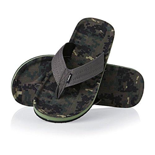 O'Neill Men's Fm Chad Pattern Flip Flops, Green Green