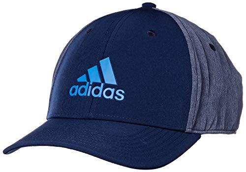 adidas Golf A-Stretch Heather Tour Hat, Collegiate Navy, One Size
