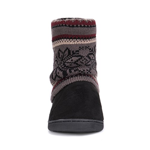 Pictures of MUK LUKS Women's Raquel Slippers-Charcoal, Medium M US 6