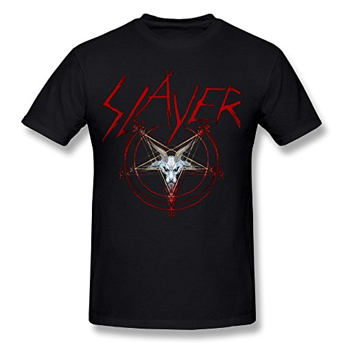DonM.Mason Cotton Youth Men's Cool Short Sleeves T Shirt Tee Slayer Band Black 5XL - Slayer T-shirts Band