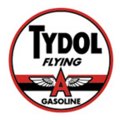 Tydol Flying Round Tin Sign