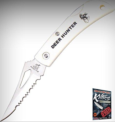 Frost Deer Hunter Lockback 18-483Dh Partial Serrated Folding Limited Elite Knife 3