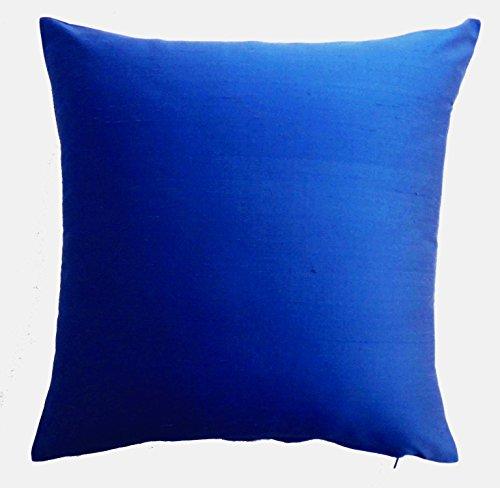 Silk Throw Pillow Cover Royal Blue 15×15 inch 1 Piece 100% Pure Silk Dupioni Cushion Cover