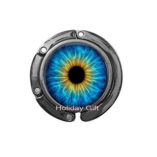 Cat's Eye Crystal Bag Hook Purse Hook per ality Dragon Eye Glass Dome Bag Hook Purse Hook Jewelry Purse Hook.HTY-012