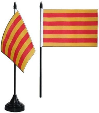 Digni España Cataluña bandera de mesa 4 X 6 pulgadas: Amazon.es: Hogar