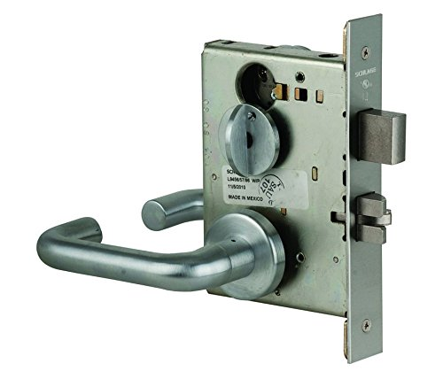 (Schlage L9453P 03A 626 C123 Keyway Series L Grade 1 Mortise Lock, Entrance Function, C123 Keyway, 03A Design, Satin Chrome Finish)