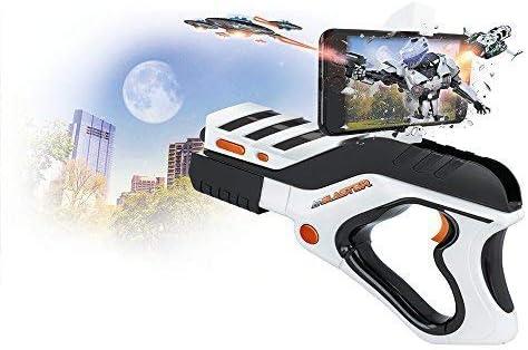 Forever AR Blaster GP de 200 Aumentada de Reality Gun Pistola láser Arma para Bluetooth Video Juegos interactivos con el Smartphone Soporte para teléfono móvil: Amazon.es: Electrónica