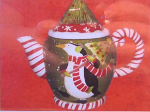 Debbie Mumm Ceramic Holiday Teapot