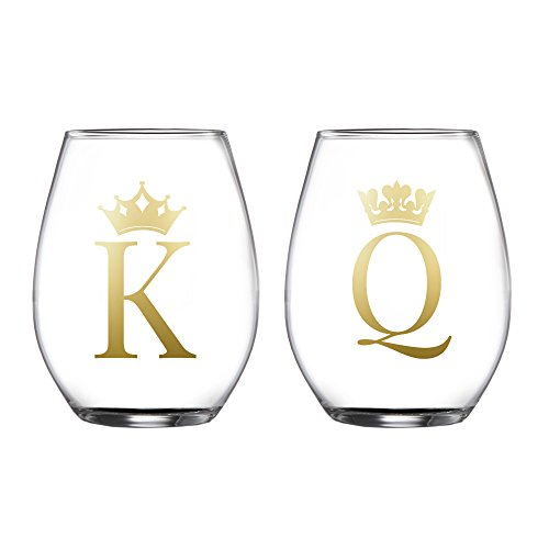 Fifth Avenue Crystal 229452-2GB King/Queen Stemless Glasses (Set of 2), Clear (Tabletops Avenue compare prices)