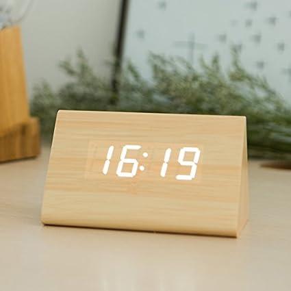 SFSYDDY-E-Silenciar alarma cama inteligente luz de noche reloj digital multifuncional una cara