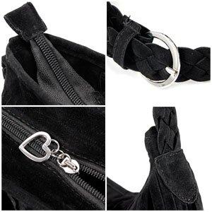main tendance bandouliere porte a a noir Sac de franges epaule femme qOyfzBK5w