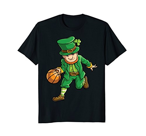 Leprechaun Basketball T Shirt St Patricks Day Boys Kids Men