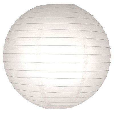 Perfectmaze 100 Piece Wholesale 20'' (Inch) White Round Chinese Paper Lantern for Wedding Party Engagement Decoration