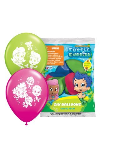 Pioneer National Latex Bubble Guppies 12 Latex Balloons, 6 Count by Pioneer National Latex