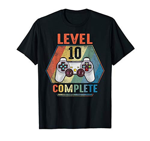 Level 10 Complete Vintage Gift Shirt Celebrate 10th Wedding (Best 10th Anniversary Gifts For Him)