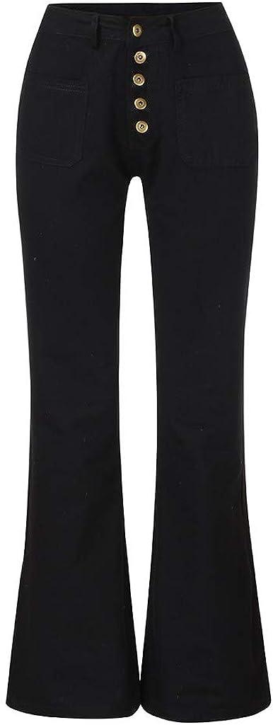 Dark Bule Blue Black Pantalones Mujer Flare Jeans Mid Waist Bell Jeans Stretch Slim Pants Longitud Jeans White