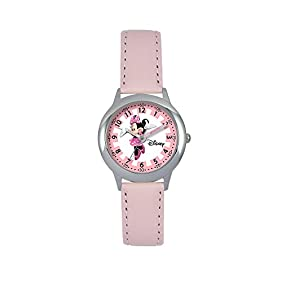 Disney Minnie Mouse Girls' Stainless Steel Pink Time Teacher Watch