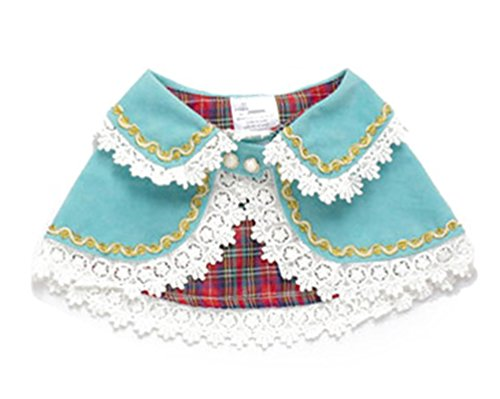Freerun Pet Dog Clothes Comfy Cute Dog Apparel Cloak with Hat and Wig Pet Costume - PF09Blue, M