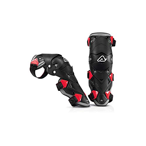 Acerbis Impact EVO Knee/Shin Guards (Black/RED) (Best Mx Knee Pads)