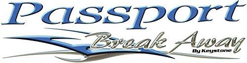 Logo Decal Away (1 Rv Trailer Keystone Passport Break Away Logo Decal Graphic -937)