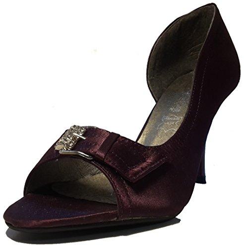 3-W-Hohenlimburg - Zapatos de vestir para mujer Purple Modell B.