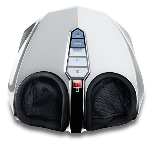 Miko Shiatsu Home Foot Massager Machine With Switchable Heat Silver
