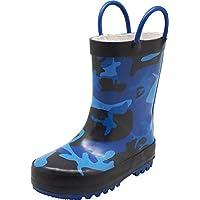 NORTY - Boys Camouflage Waterproof Rainboot, Blue, Black 40148-12MUSLittleKid