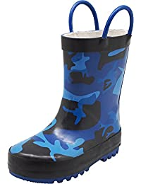 Waterproof Rubber Rain Boots for Kids - Boys and Girls Solid & Printed Rainboots for Toddlers and Kids