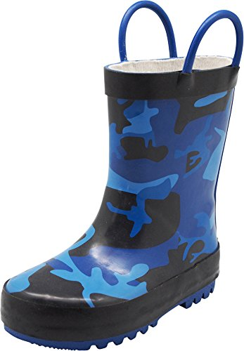 - NORTY - Toddler Boys Camouflage Waterproof Rainboot, Blue, Black 40133-7MUSToddler