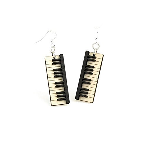 Green Tree Jewelry Piano Key Earrings with Gift Box