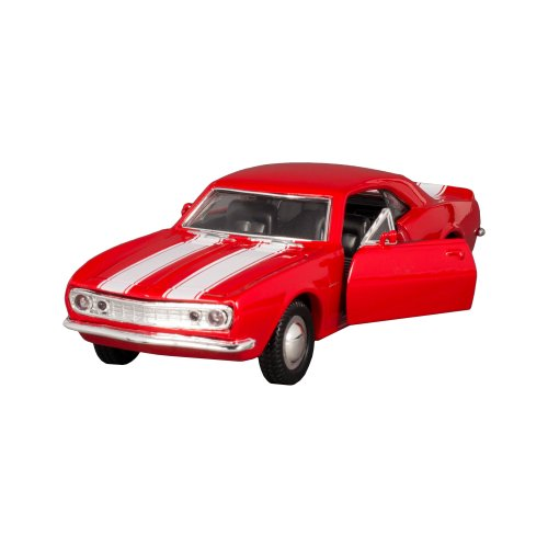 Sunnyside 1967 Chevrolet Camaro Z-28 Collectible Car Toy (Red with White Stripes)