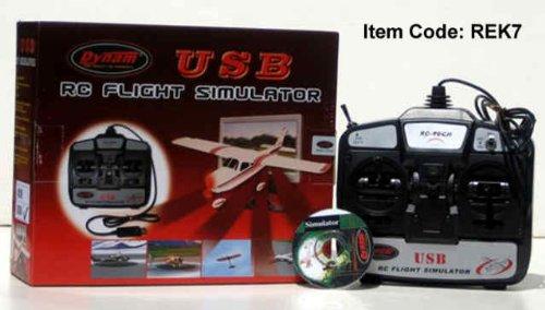 Image of USB Flight Simulator 6 Channel Remote Control Training Com