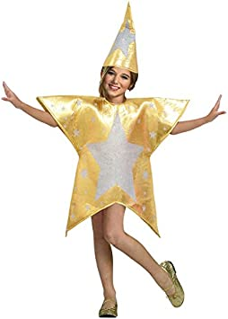 Disfraz Estrella Dorada Infantil Navidad 2-4 años: Amazon.es ...