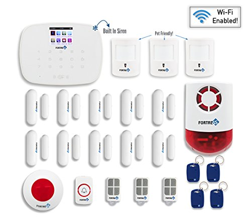 Fortress Security Store- Total Security Wi-Fi Kit C DIY Wireless Security Alarm System for Business and Home : SIM card, Wi-Fi, Landline compatible ,Remote Monitoring- No Contracts …