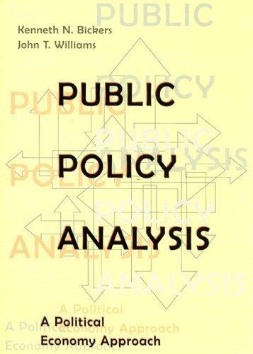 Public Policy Analysis A Political Economy Approach pdf