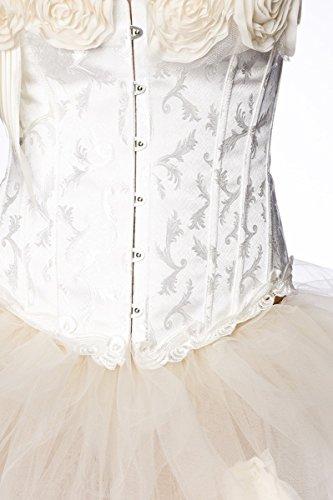 Mullet tul Rock con rosas de flores en Burlesque Look A13644 creme (Sw 65)