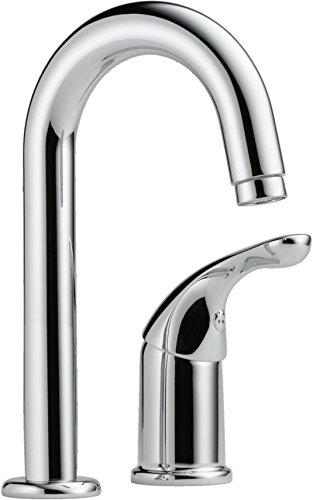 Delta 1903-DST Classic Single Handle Bar/Prep Faucet, Chrome 2 Hole Chrome Bar Faucet