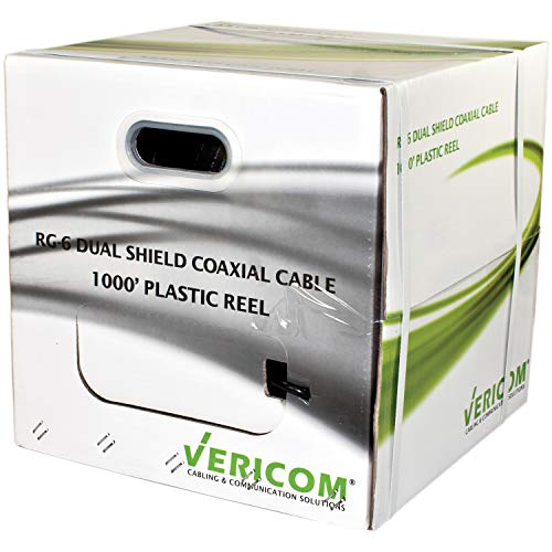 Vericom(r) 1000Ft Rg6 Dual Shld Cbl Tv, Projector & Home Theater Accessories by Vericom(r)