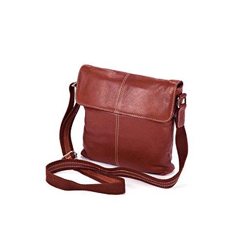 Eastern Counties Leather Damenhandtasche Paige mit Überschlag Rot