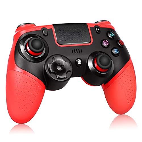 Proslife Wireless Controller für PS4/Switch, Pro Wireless Gaming Gamepads Joysticks für Playstation 4 Pro / Slim mit Dual Vibration -Red