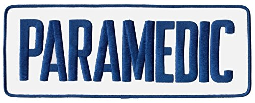 PARAMEDIC - Back Patch, Royal Blue/ White, 11x4' - Uniform Patch logo EMT EMS EMR Emergency - Sold by Uniform World