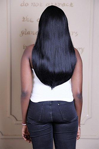 Perruque sexy femmes longues naturelles cheveux droits perruques noir