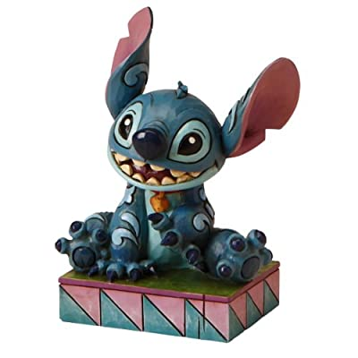 "Enesco Disney Traditions by Jim Shore ""Lilo and Stitch"" Stitch Personality Pose Stone Resin Figurine, 3.75"""